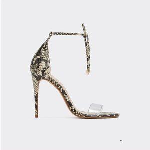 Snakeprint stiletto heel
